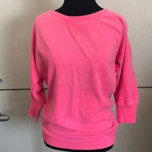 Victoria's Secret Hot Pink 3/4 sleeve sweatshirt